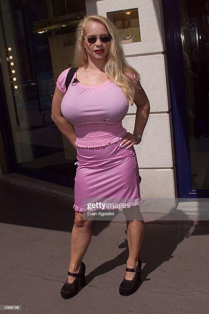 German porn star Tania Angel walks La Croisette during the