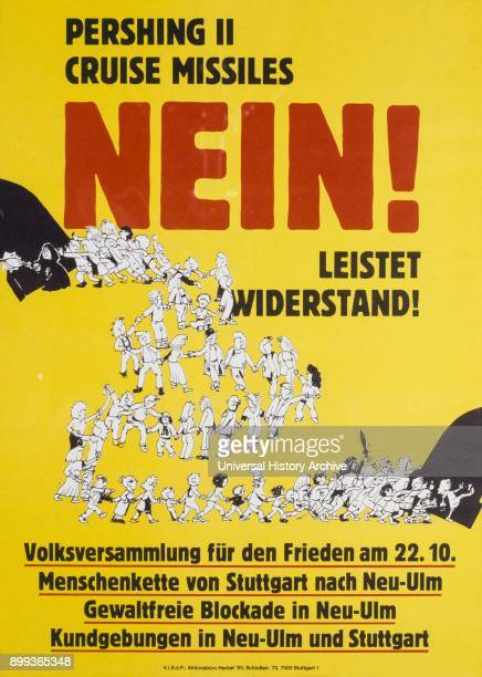 German poster campaigning for peace 1981 produced during the Cold War