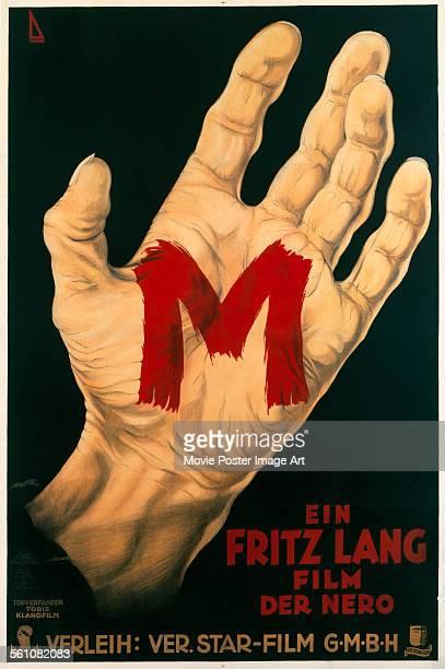 A German poster for Fritz Lang's 1931 crime film 'M'