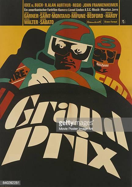 A German poster for John Frankenheimer's 1966 motor racing film 'Grand Prix' starring James Garner