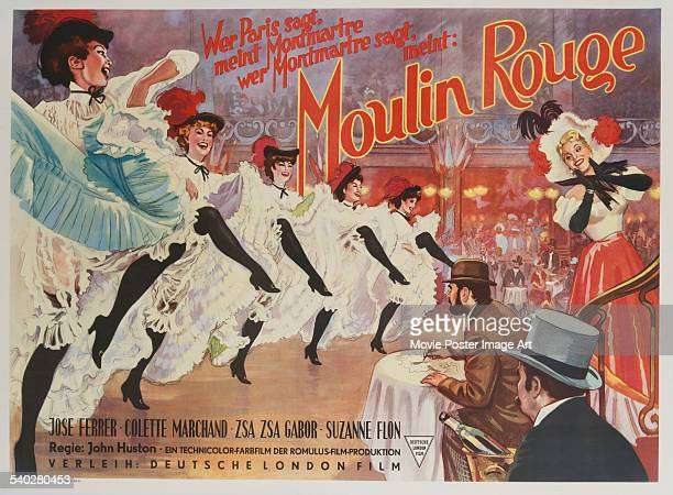 A German poster for John Huston's 1952 drama 'Moulin Rouge' starring José Ferrer and Zsa Zsa Gabor