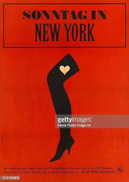 A German poster for Peter Tewksbury's 1963 comedy 'Sonntag in New York'