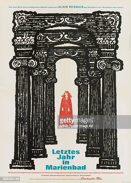 A German poster for the French movie 'L'année dernière à Marienbad' titled 'Letztes Jahr in Marienbad' 1961