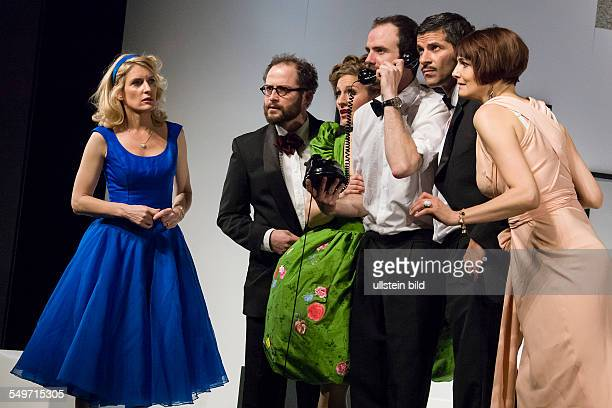 German premiere of the play 'Rumors' by Neil Simon at the Theater am Kurfuerstendamm With Maria Furtwaengler Pasquale Aleardi Julia Bremermann Nicole...