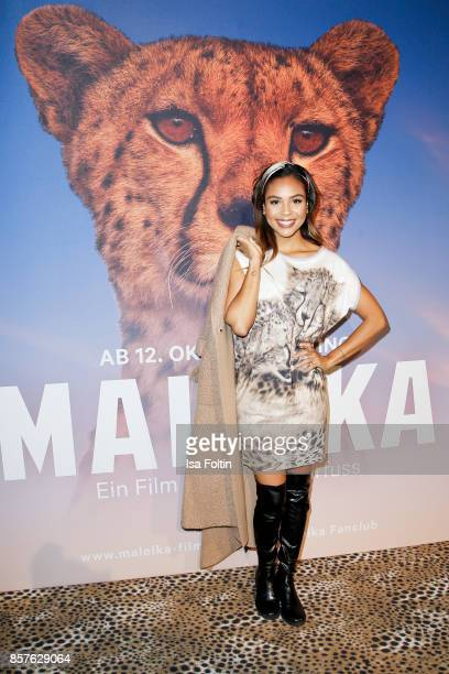 German presenter Alexandra Maurer attends the 'Maleika' Film Premiere at Zoo Palast on October 4 2017 in Berlin Germany