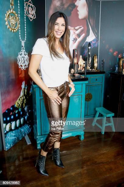 German presenter Alexandra Polzin attends the Thomas Sabo Press Cocktail during the MercedesBenz Fashion Week Berlin Spring/Summer 2017 at China Club...
