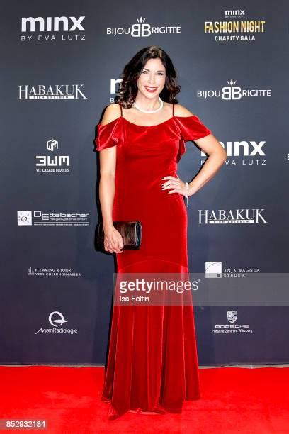 German presenter Alexandra Polzin during the Minx Fashion Night in favour of 'Sauti Kuu' of Auma Obama at Wuerzburger Residenz on September 23 2017...