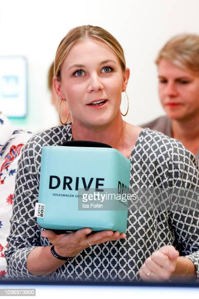 German presenter Alina Merkau during the discussion panel of Cliché Bashing 'I m perfect Take it easy Girl vs Multitasking Women' at DRIVE Volkswagen...