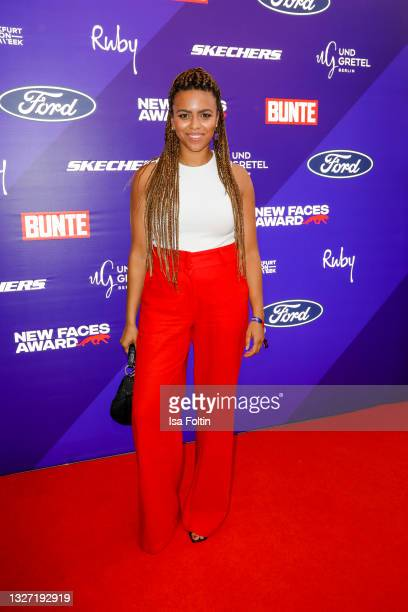 German presenter Aminata Belli attends the Bunte New Faces Award Style on July 5, 2021 in Frankfurt am Main, Germany.