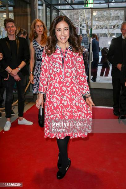 German presenter Anastasia Zampounidis attends the annual Victress Awards gala at Universitaet der Kuenste on April 8 2019 in Berlin Germany