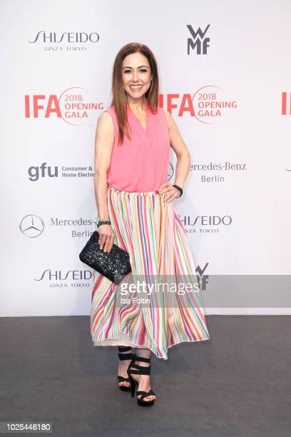 German presenter Anastasia Zampounidis attends the IFA 2018 opening gala on August 31 2018 in Berlin Germany