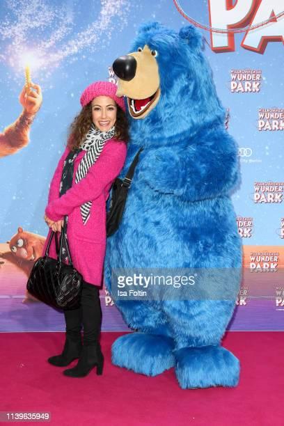 German presenter Anastasia Zampounidis attends the Willkommen im Wunder Park premiere at Kino in der Kulturbrauerei on March 31 2019 in Berlin Germany