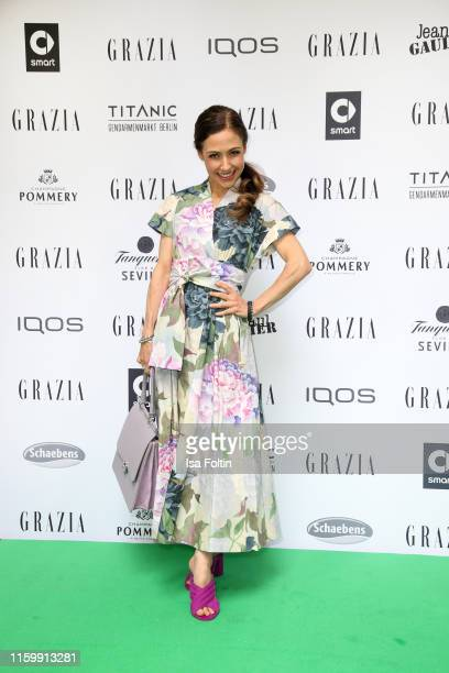 German presenter Anastasia Zampounidis during the Grazia Fashion Night at Titanic Hotel on July 3 2019 in Berlin Germany
