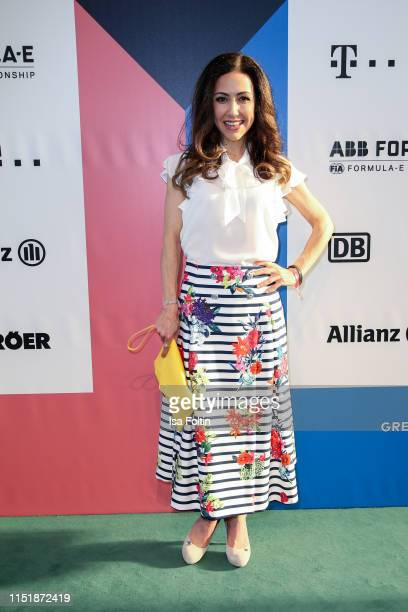 German presenter Anastasia Zampounidis during the Green Award as part of the Greentech Festival at Tempelhof Airport on May 24 2019 in Berlin Germany...