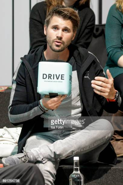 German presenter and actor Thore Schoelermann during the discussion panel of Clich'e Bashing 'soziale Netzwerke Real vs Digital' In Berlin at DRIVE...