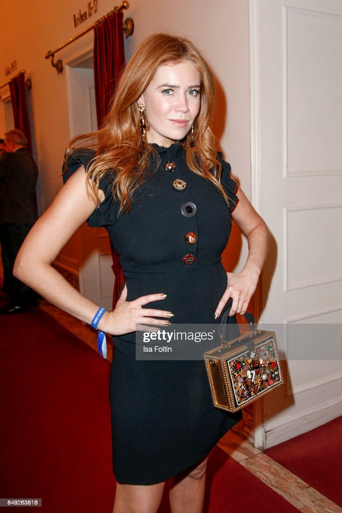 German presenter and actress Palina Rojinski attends the First Steps Awards 2017 at Stage Theater on September 18, 2017 in Berlin, Germany.
