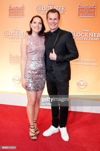 German presenter and guest attend the premiere of the musical 'Der Gloeckner von Notre Dame' on April 9 2017 in Berlin Germany