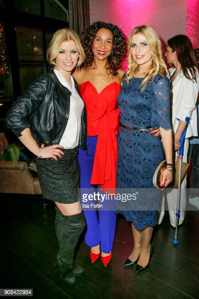 German presenter and model Annica Hansen German presenter Annabelle Mandeng and German presenter Tanja Buelter during the Bunte New Faces Night at...
