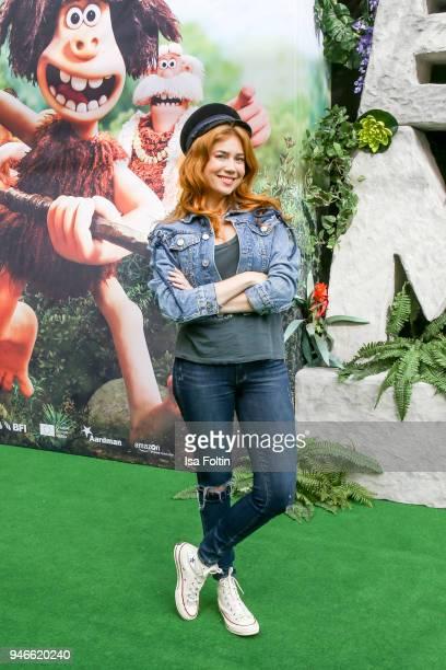 German presenter and model Palina Rojinski during the 'Early Man Steinzeit Bereit' premiere at Kino in der Kulturbrauerei on April 15 2018 in Berlin...