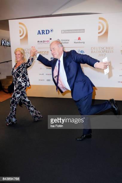 German presenter and producer Hubertus MeyerBurckhardt and his wife Dorothee MeyerBurckhardt attend the 'Deutscher Radiopreis' at Elbphilharmonie on...