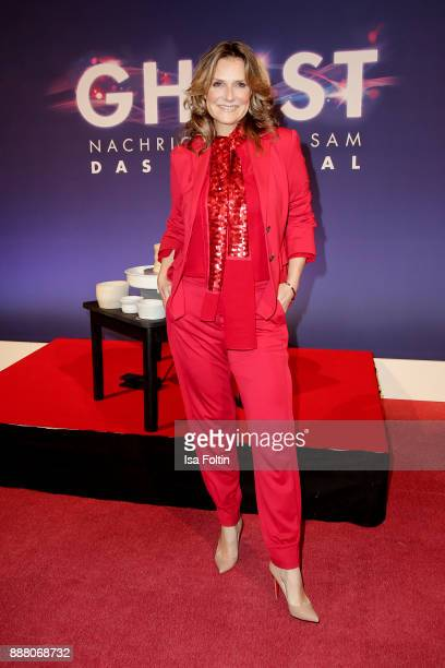 German presenter and singer Kim Fischer during the premiere of 'Ghost - Das Musical' at Stage Theater on December 7, 2017 in Berlin, Germany.