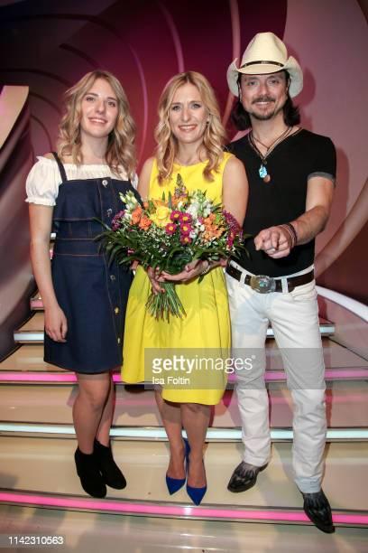 German presenter and singer Stefanie Hertel with her daughter Johanna Mross and her husband Lanny Lanner during the tv show Stefanie Hertel Die...