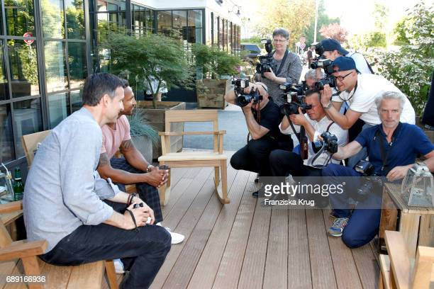 German presenter Andreas Tuerk during Til Schweiger's opening of his 'Barefoot Hotel' on May 28 2017 in Timmendorfer Strand Germany