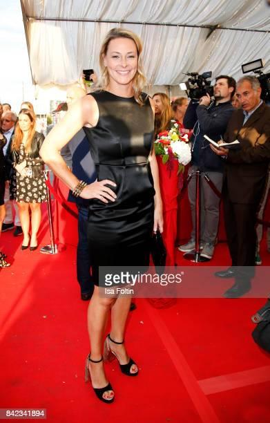 German presenter Anja Reschke attends the 'Nacht der Legenden' at Schmidts Tivoli on September 3 2017 in Hamburg Germany