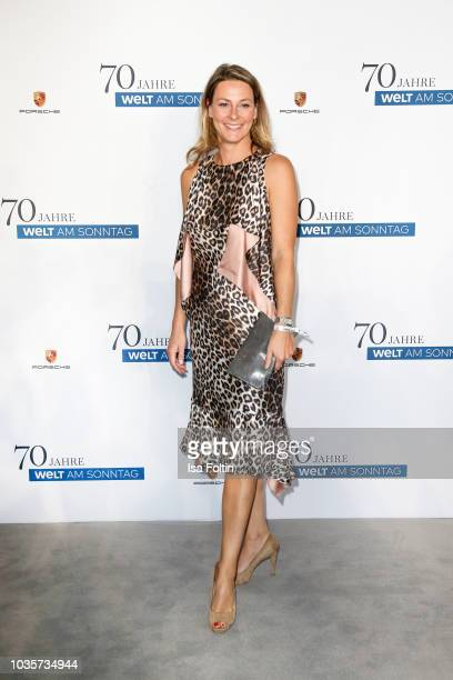German presenter Anja Reschke during the 70th anniversary celebration of the German Sunday newspaper WELT AM SONNTAG at The Fontenay Hotel on...