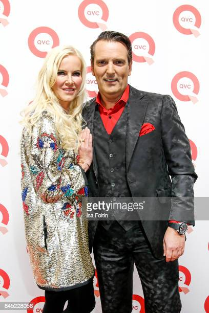 German presenter Anna Heesch and her partner Ralf Duemmel jury memeber 'Hoehle der Loewen' attend a QVC event during the Vogue Fashion's Night Out on...