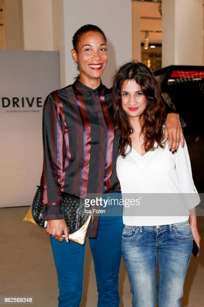 German presenter Annabelle Mandeng and German actress Rabeah Rahimi attend the Clich'e Bashing 'Beef mit den Veggies' at DRIVE Volkswagen Group Forum...