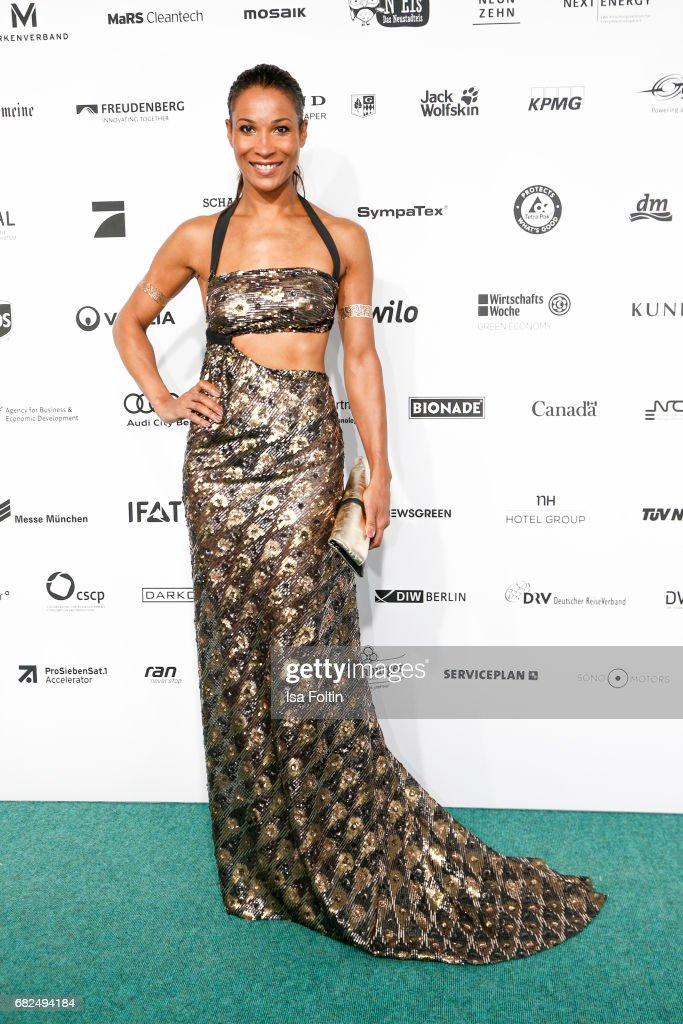 German presenter Annabelle Mandeng attends the GreenTec Awards at ewerk on May 12, 2017 in Berlin, Germany.