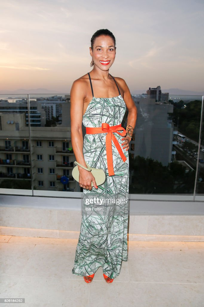 German presenter Annabelle Mandeng attends the Remus Lifestyle Night on August 3, 2017 in Palma de Mallorca, Spain.
