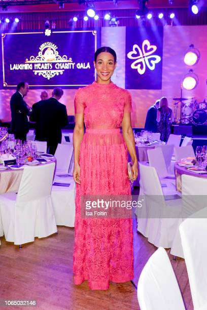 German presenter Annabelle Mandeng during the 10th Laughing Hearts Charity Gala at Grand Hyatt Hotel on November 24 2018 in Berlin Germany