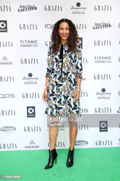 German presenter Annabelle Mandeng during the Grazia Fashion Night at Titanic Hotel on July 3 2019 in Berlin Germany