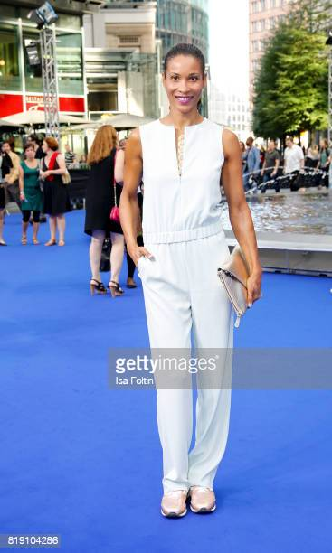 German presenter Annabelle Mandeng during the 'Valerian Die Stadt der Tausend Planeten' premiere at CineStar on July 19 2017 in Berlin Germany