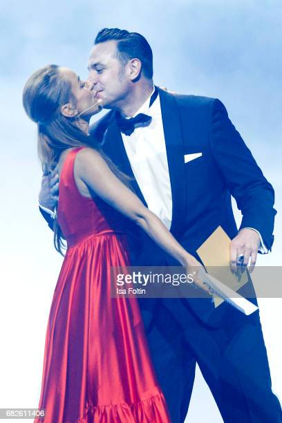German presenter Annamarie Carpendale and Sascha Vollmer member of the band 'The BossHoss' during the GreenTec Awards Show at ewerk on May 12 2017 in...