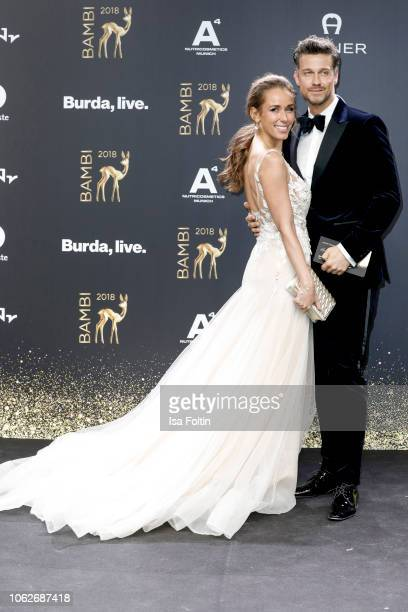 German presenter Annemarie Carpendale and her husband German presenter and actor Wayne Carpendale attend the 70th Bambi Awards at Stage Theater on...