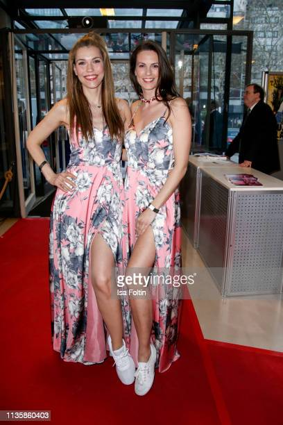German presenter Annett Moeller and German presenter Katrin Wrobel attend the annual Victress Awards gala at Universitaet der Kuenste on April 8 2019...