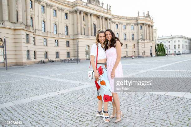 German presenter Annett Moeller and German presenter Katrin Wrobel during the TwoTell Ladiesdinner 2019 at Hotel De Rome on June 30 2019 in Berlin...