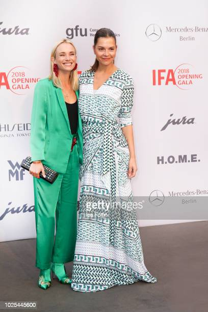 German presenter Annie Hoffmann and German actress Susan Hoecke attends the IFA 2018 opening gala on August 31 2018 in Berlin Germany