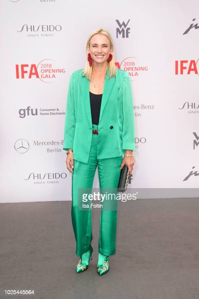German presenter Annie Hoffmann attends the IFA 2018 opening gala on August 31 2018 in Berlin Germany
