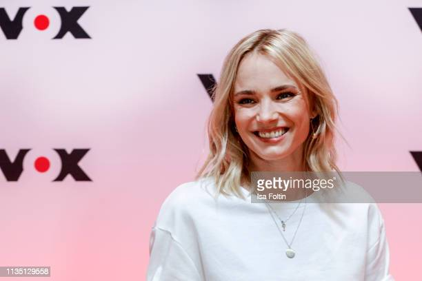 German presenter Annie Hoffmann attends the press conference by tv channel VOX to present new series in programme at Bertelsmann Repraesentanz on...
