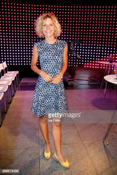 German presenter Annika Zimmermann attends the Deutscher Gruenderpreis on June 20, 2017 in Berlin, Germany.