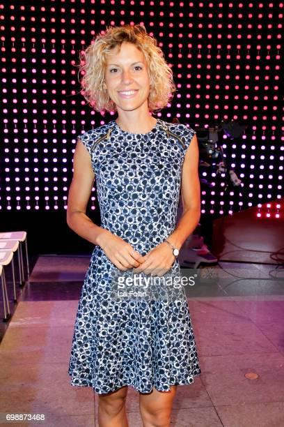 German presenter Annika Zimmermann attends the Deutscher Gruenderpreis on June 20 2017 in Berlin Germany