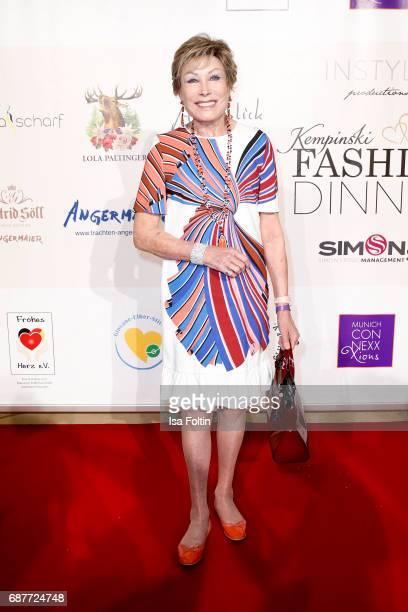 German presenter AntjeKatrin Kuehnemann attends the Kempinski Fashion Dinner on May 23 2017 in Munich Germany