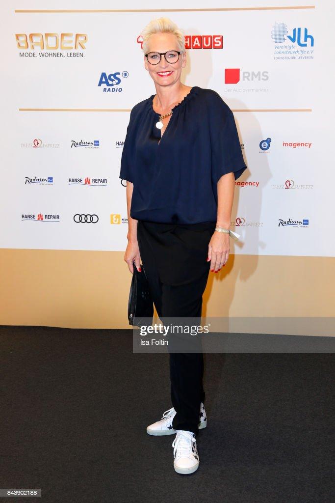 German presenter Baerbel Schaefer attends the 'Deutscher Radiopreis' (German Radio Award) at Elbphilharmonie on September 7, 2017 in Hamburg, Germany.