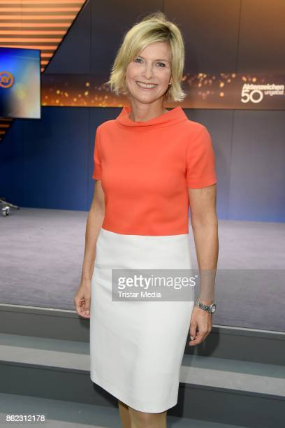 German presenter Barbara Hahlweg attends the XY Award 2017 as part of 'Aktenzeichen XY ungeloest' celebrates its 50th Anniversary' on October 17 2017...