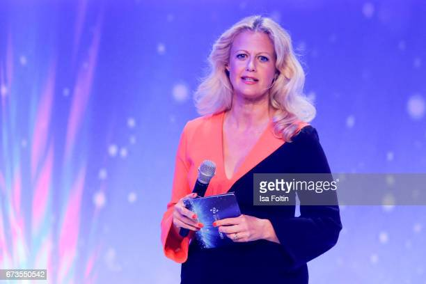 German presenter Barbara Schoeneberger during the German Computer Games Award 2017 at WECC on April 26 2017 in Berlin Germany