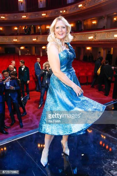 German presenter Barbara Schoeneberger during the GQ Men of the year Award 2017 show at Komische Oper on November 9 2017 in Berlin Germany